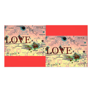 Love, life, peace, hope, graphics background notes card