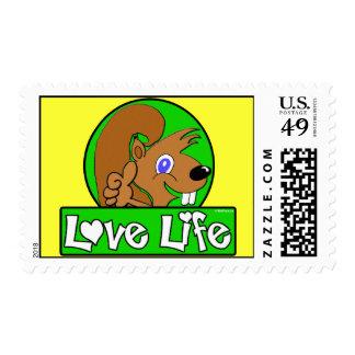 Love Life Postage Stamp
