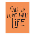 Love Life Quote, Motivational Attitude Postcard