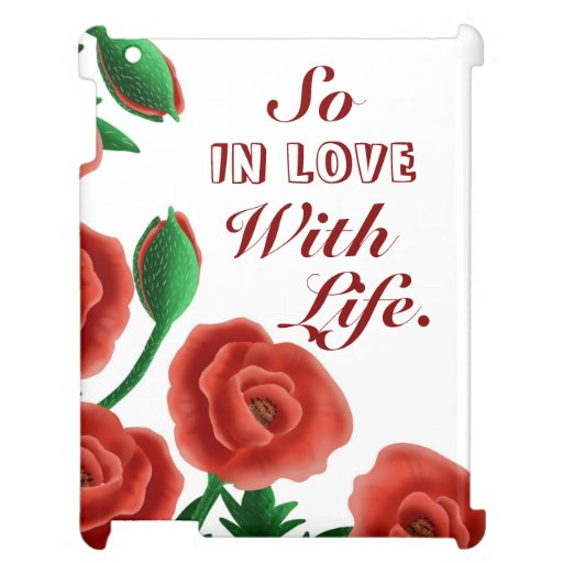 Love Life Red Poppies Case for the iPad