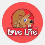 Love Life Round Sticker