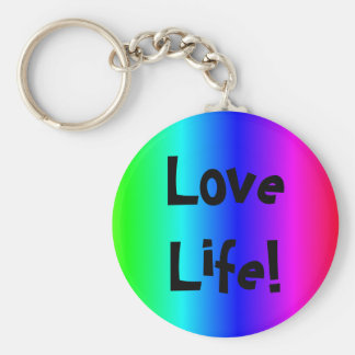 Love life text key-ring multi-colored keychain