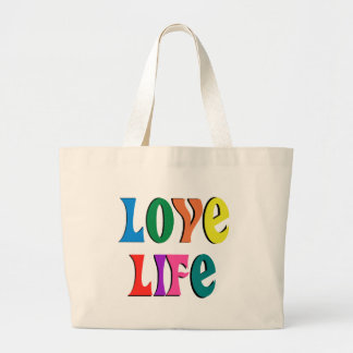 LOVE LIFE tote ~ customizable ~a christian message