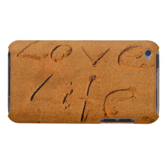 'Love Life' written in Sand Case-Mate iPod Touch Case