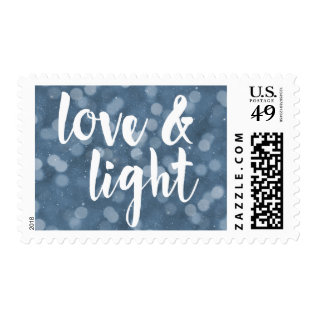 Love & Light | Bokeh Hanukkah Postage at Zazzle