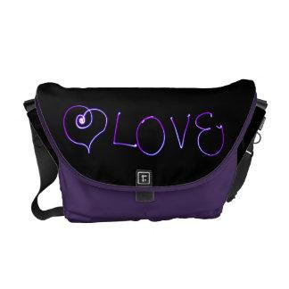Love -  Light Painting Photo Messenger Bag