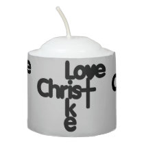 Love Like Christ (Black) Votive Candle