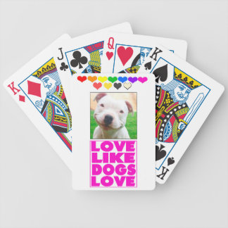 Love Like Dogs Love Postcard Bicycle Playing Cards