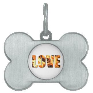 Love Like Fire Design Pet ID Tag