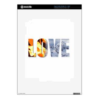 Love Like Fire Love Like Snow Protection Skin iPad 2 Skin