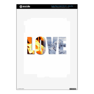 Love Like Fire Love Like Snow Protection Skin iPad 3 Decals