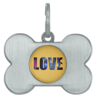 Love Like Fireworks Design Pet ID Tag