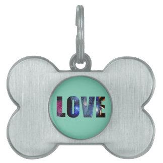 Love Like Fireworks Design Pet Name Tag