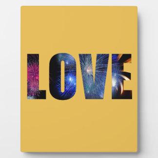 Love Like Fireworks Design Plaque