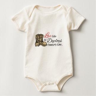 Love like he Deploys tomorrow. Baby Bodysuit