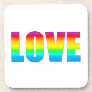 Love like Rainbow Designs Beverage Coaster