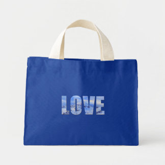 Love Like Snow Design Mini Tote Bag