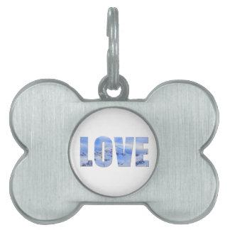 Love Like Snow Framed Pet Tag