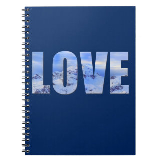 Love Like Snow Spiral Photo Notebook