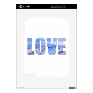 Love Like Snow Vinyl Device Protection Skin Decals For iPad 2