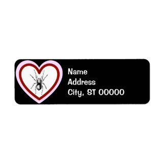 love like spiders address labels