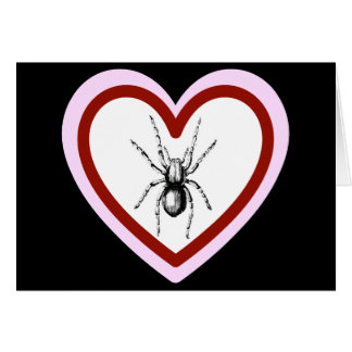 love like spiders funny romantic card valentine greeting card