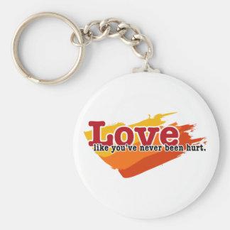 Love, like you've never been hurt keychain