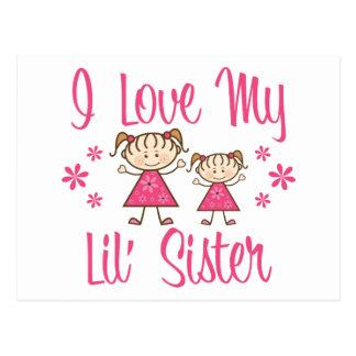 Love Lil Sister Pink Girls Postcard