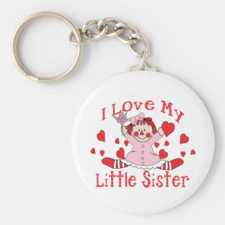 Love little Sister Basic Round Button Keychain