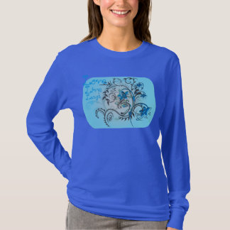 Love Live laugh with vine and flower design T-Shirt