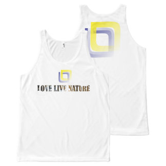 Love Live Nature Tank Top Women All-Over Print Tank Top