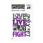 Love Live Play Fight Like A Girl Alzheimer's Disea Stamp