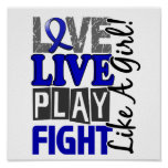 Love Live Play Fight Like A Girl Arthritis Posters
