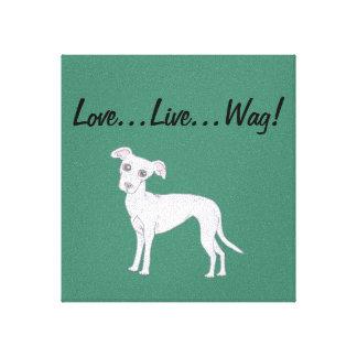 Love...Live...Wag! Canvas Print