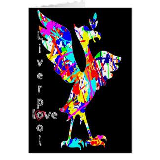 Love Liverpool - Liver Bird Greeting Card