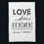 "Love Lives Here Kitchen Towel<br><div class=""desc"">.</div>"