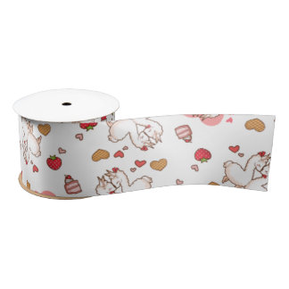 Love Llama Madness Satin Ribbon