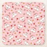 Love Llama Madness Square Paper Coaster