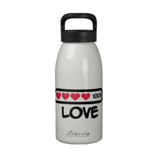 Love loading hearts drinking bottles