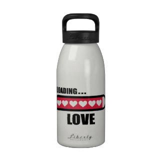 Love loading hearts water bottle
