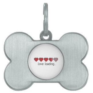 Love loading hearts Zzl2s Pet Name Tag