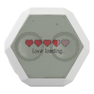 Love loading hearts Zzl2s White Bluetooth Speaker