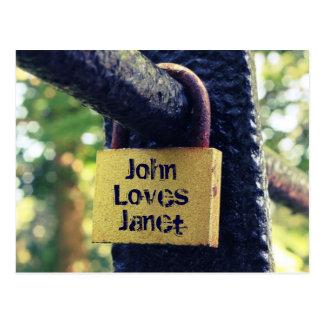 Love Lock (Cross Process Effect) Postcard