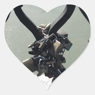 Love Lock Heart Sticker