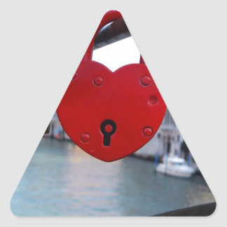 love lock in venice triangle sticker