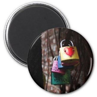Love Locked 2 Inch Round Magnet