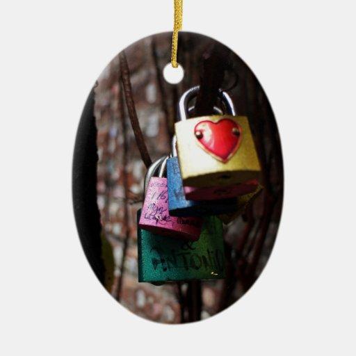 Love Locked Ceramic Ornament