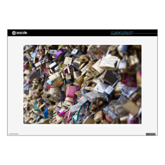 """Love Locks Over the River Seine Decal For 15"""" Laptop"""