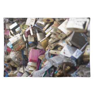 Love Locks Over the River Seine Placemat