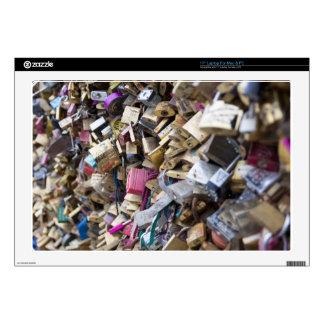 Love Locks Over the River Seine Skin For Laptop